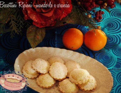 Biscottini Ripieni -Mandorle e Arancia-