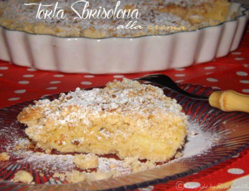 Torta Sbrisolona alla crema