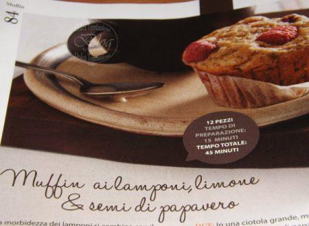 Muffin ai lamponi,limone & semi di papavero