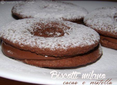 Biscotti milano al cacao e nutella