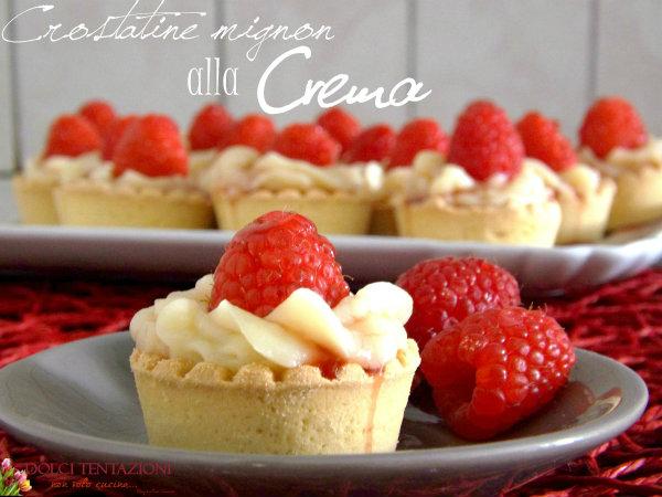 Crostatine Mignon alla crema.blog