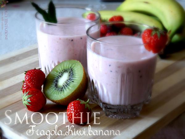 smoothie fragola,kiwi,banana.blog