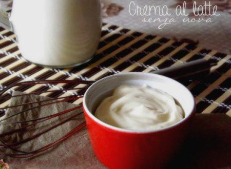 Crema al latte -senza uova-