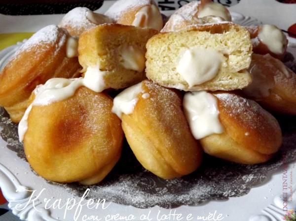 krapfen con crema la latte e miele.blog