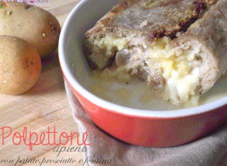 Polpettone ripieno con patate,prosciutto e fontina