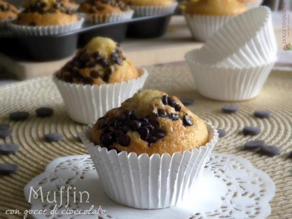 muffin con gocce di cioccolato.blog