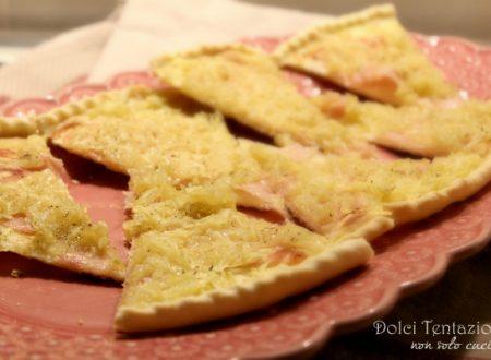 Torta di pasta brisée con patate e prosciutto