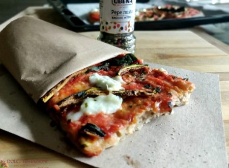 Pizza integrale con verdure grigliate