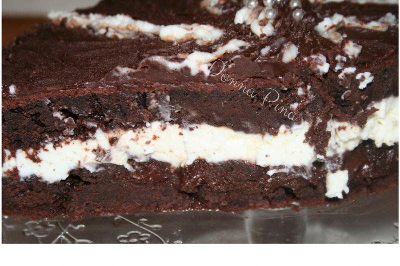 Golosa torta al cioccolato con rum e mascarpone