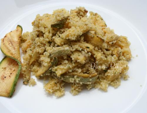 Couscous con zucchine crude marinate