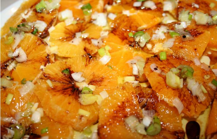 Insalata di arance siciliana con cipolla fresca