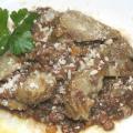 Cuori di Carciofi fritti e stufati con Lenticchie