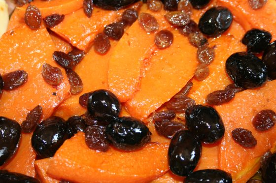 Zucca in agrodolce con olive alla siciliana