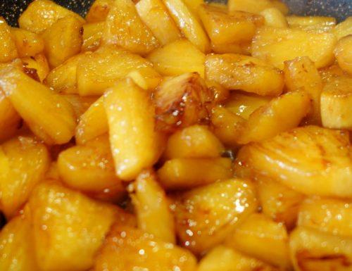 Ananas fresco, caramellato