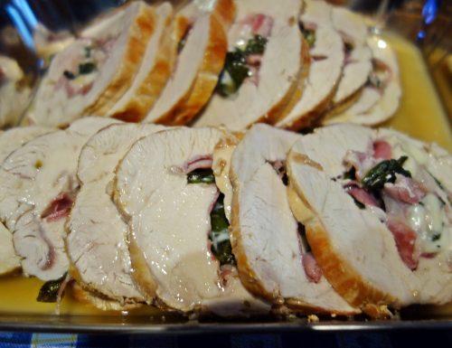 Rolata o rolè di tacchino con pancetta, basilico e formaggio…
