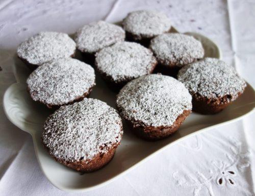 Muffin di grano saraceno con banana e cioccolato nel microonde😍