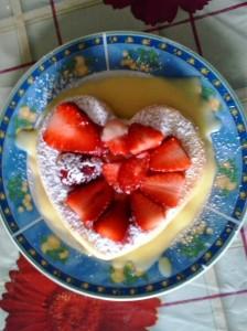 torta della nonna alle fragole