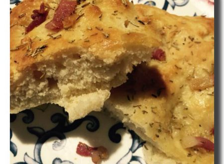 Focaccia pancetta e rosmarino