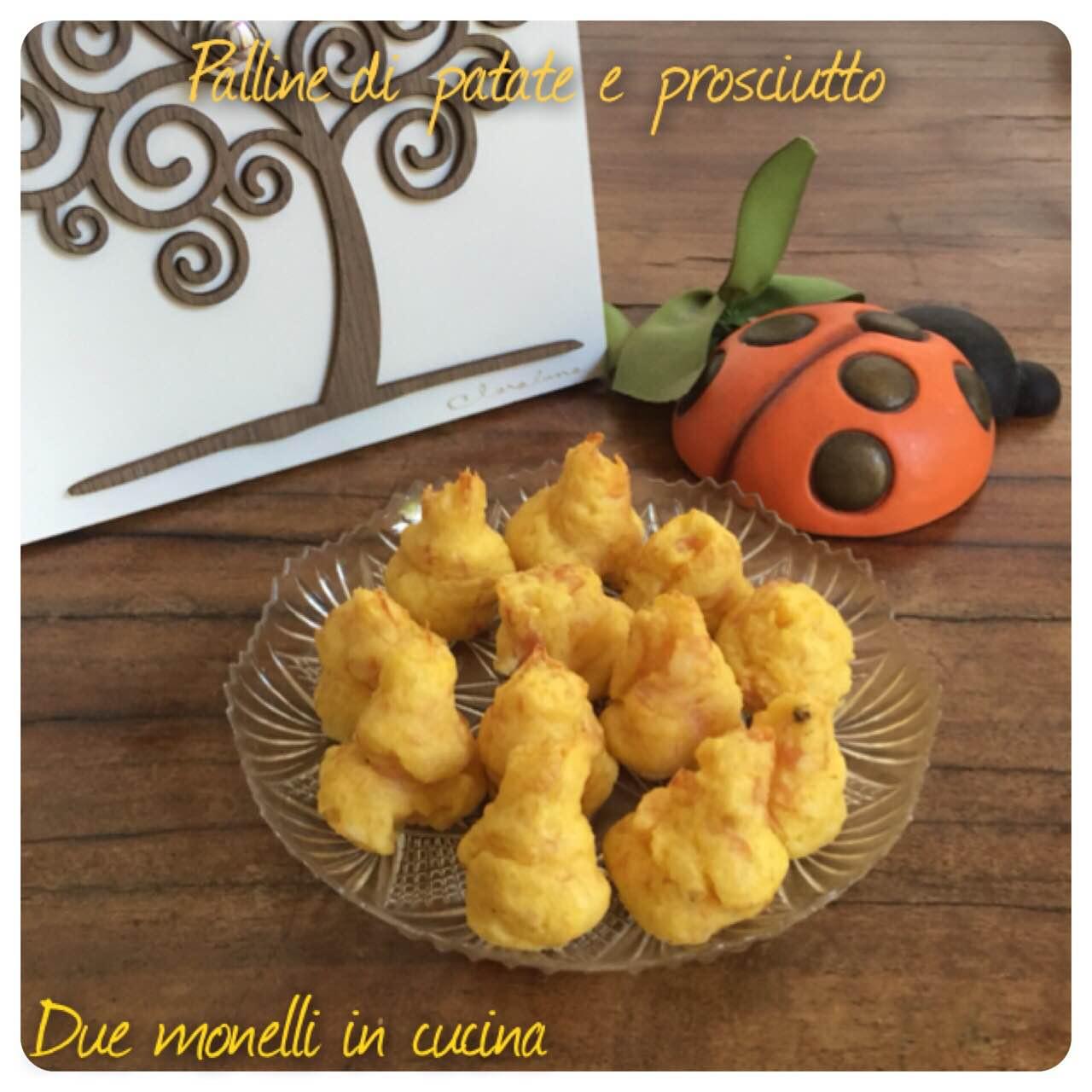 Palline di patate e prosciutto cotte al forno