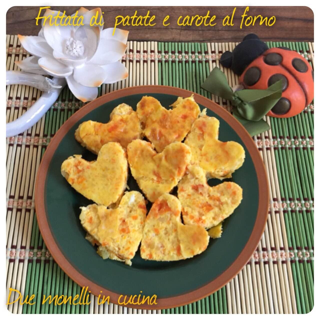 Frittata di patate e carote al forno