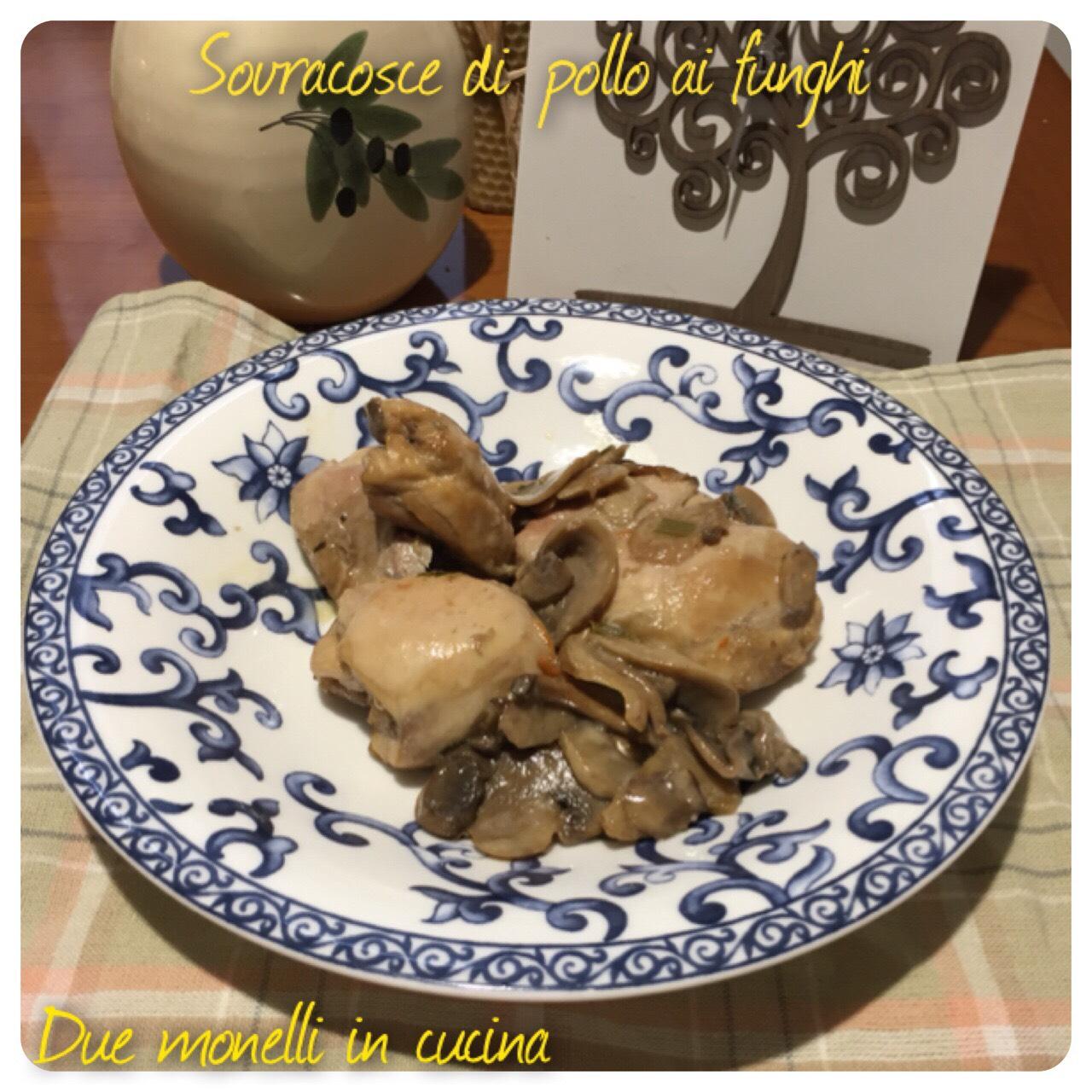 Sovracosce di pollo con funghi cotto in padella