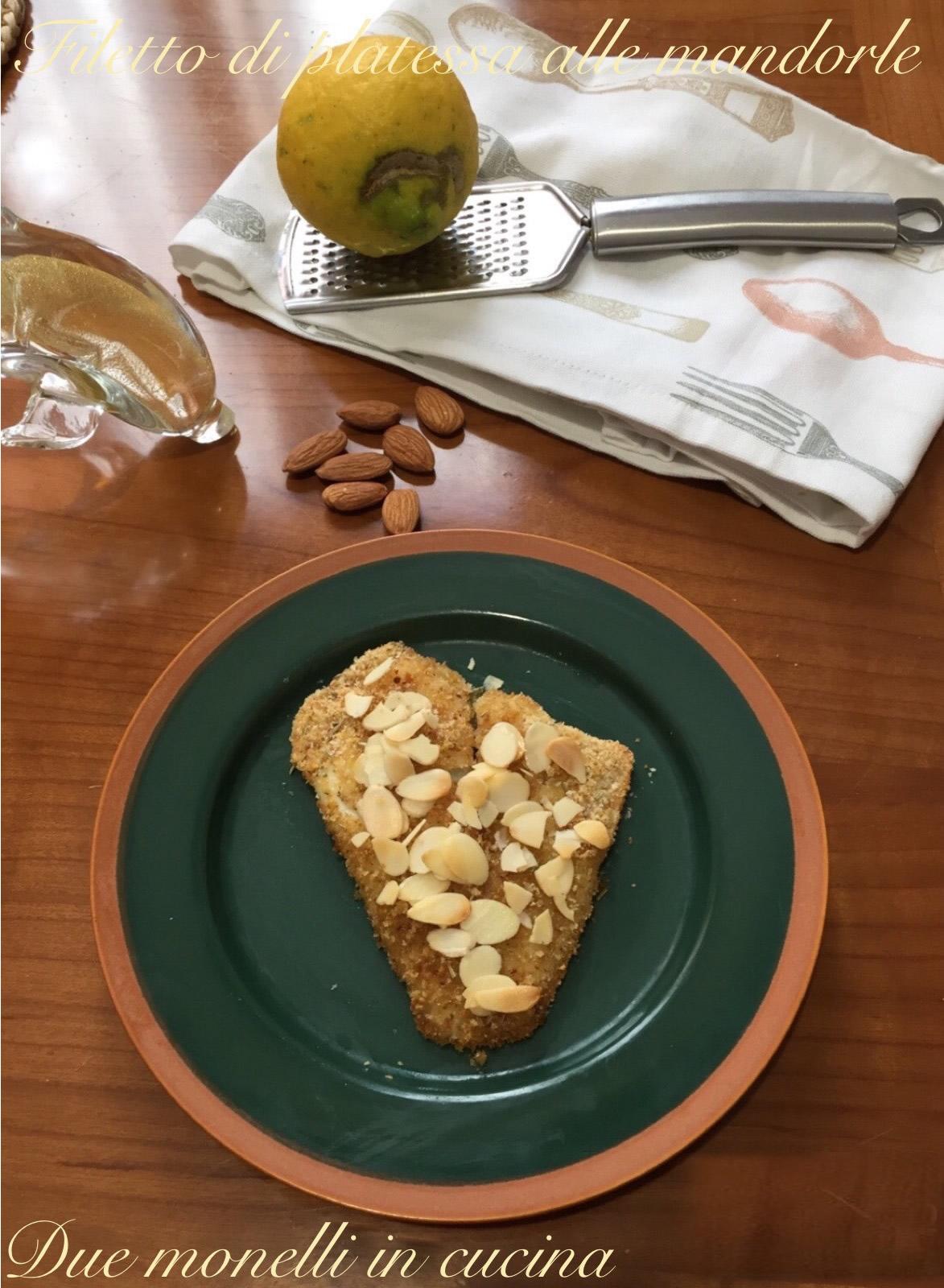 Filetto di platessa al forno con panatura alle mandorle