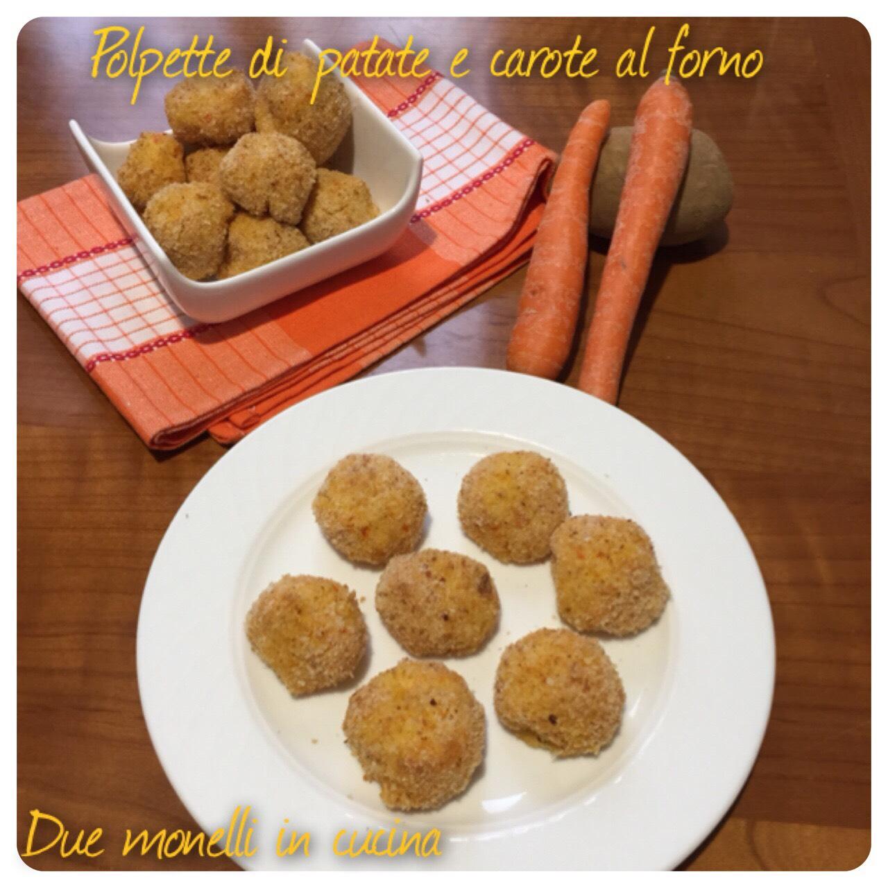 Polpette di patate e carote al forno
