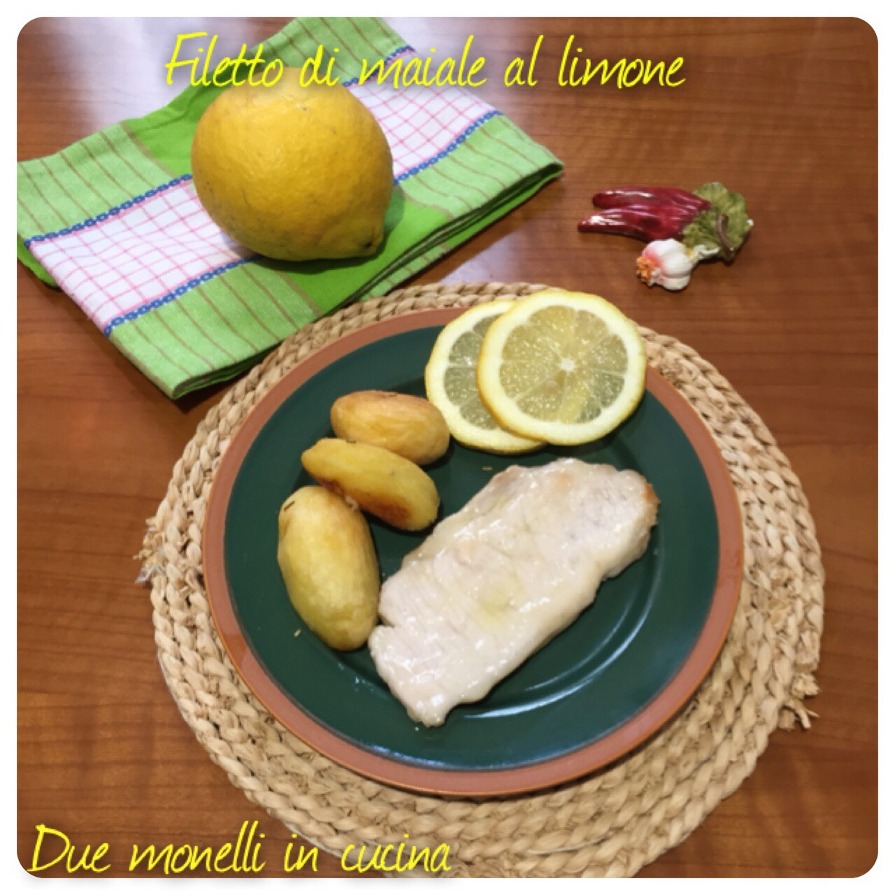 Filetto di maiale al limone