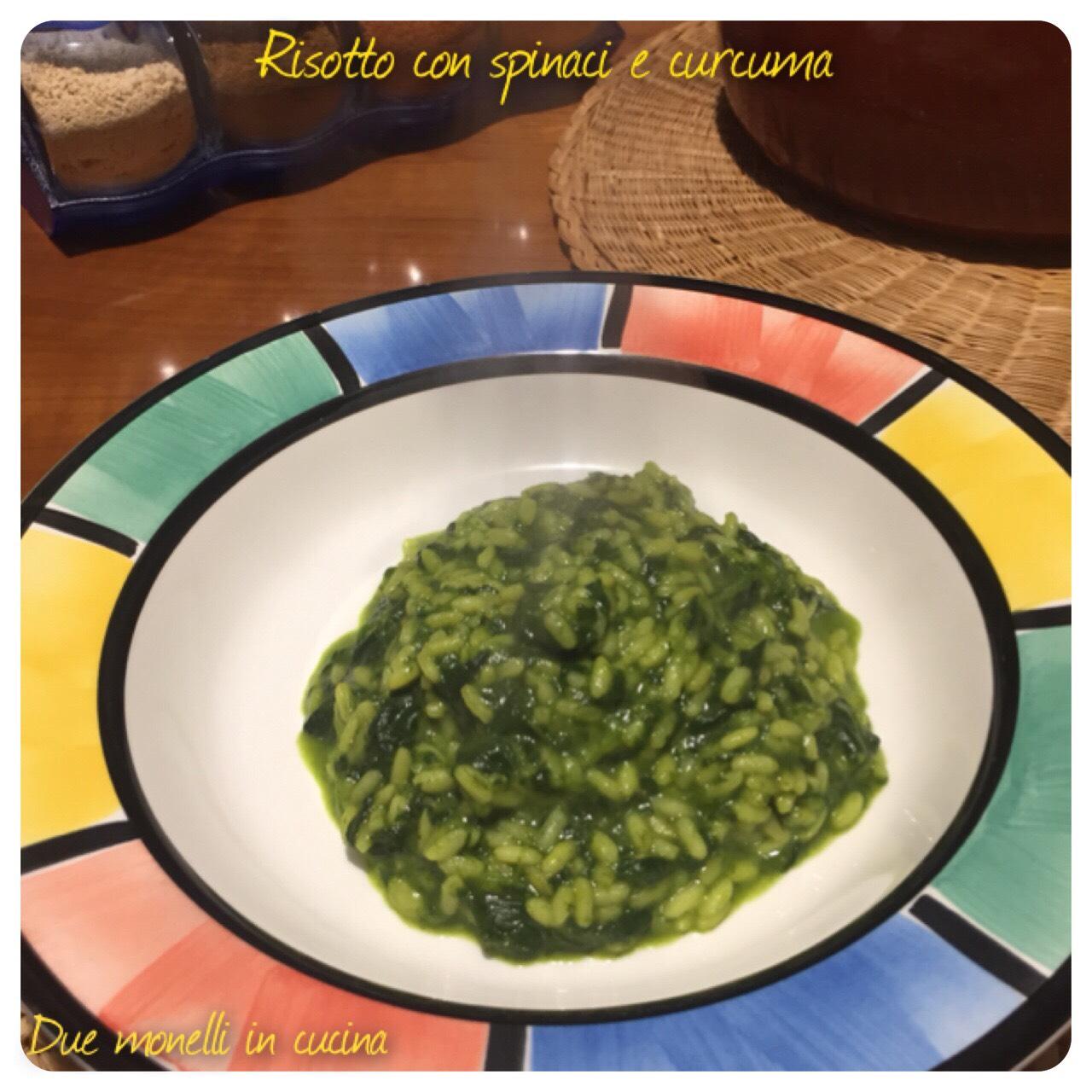 Risotto con spinaci e curcuma