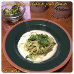 Pasta con broccoli su fonduta di provola affumicata