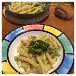 Pasta con broccoli e pancetta