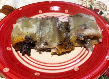 Paccheri ripieni di patate radicchio e gorgonzola
