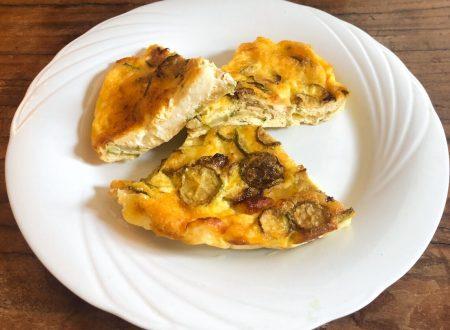 Frittata al forno con zucchine e caciotta fresca