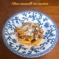 Pasta patate e fagiolini con pomodori pelati