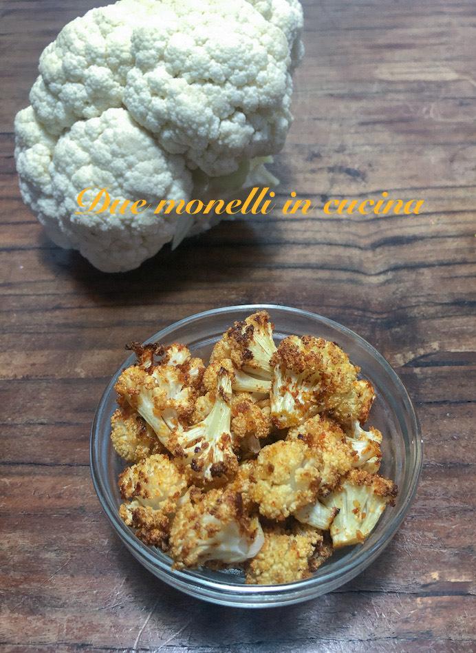 Cavolfiore gratinato al forno con pangrattato, parmigiano e paprika