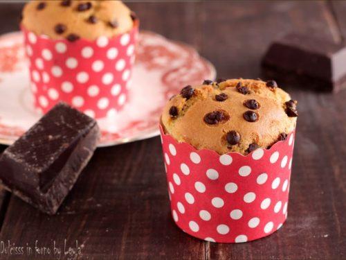 Muffin allo yogurt e gocce di cioccolato