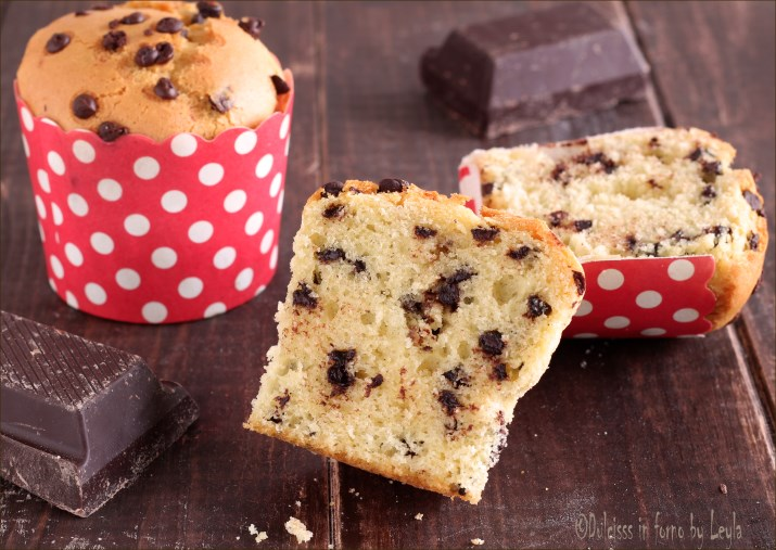 Muffin allo yogurt e gocce di cioccolato Dulcisss in forno by Leyla