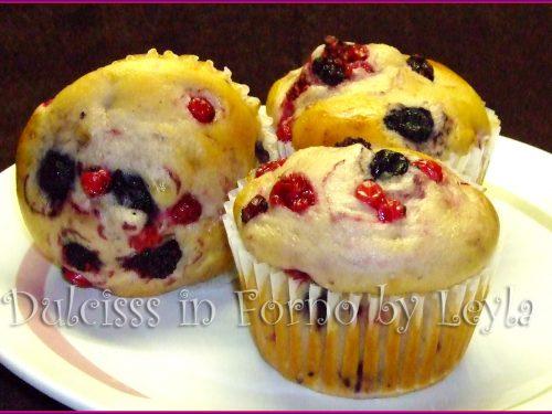 Muffin allo yogurt e frutti di bosco, ricetta per la colazione