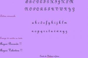 L'alfabeto decorativo: l'alfabeto per scrivere sulle torte