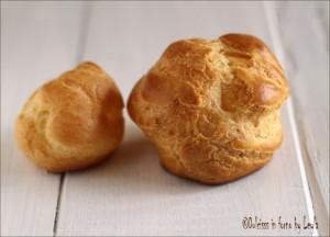 Bignè panna e fragole, ricetta mignon Dulcisss in forno by Leyla