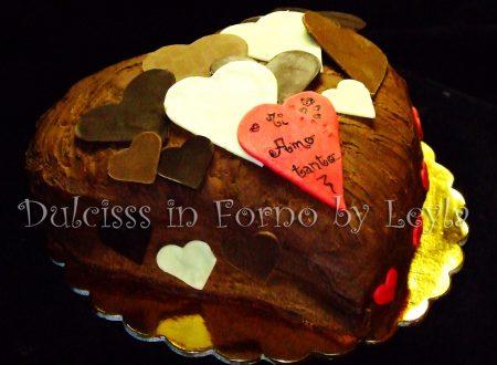 Torta Cascata di cuori di cioccolato per San Valentino