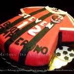 Torta Milan torta decorata pasta di zucchero PDZ Dulcisss in forno