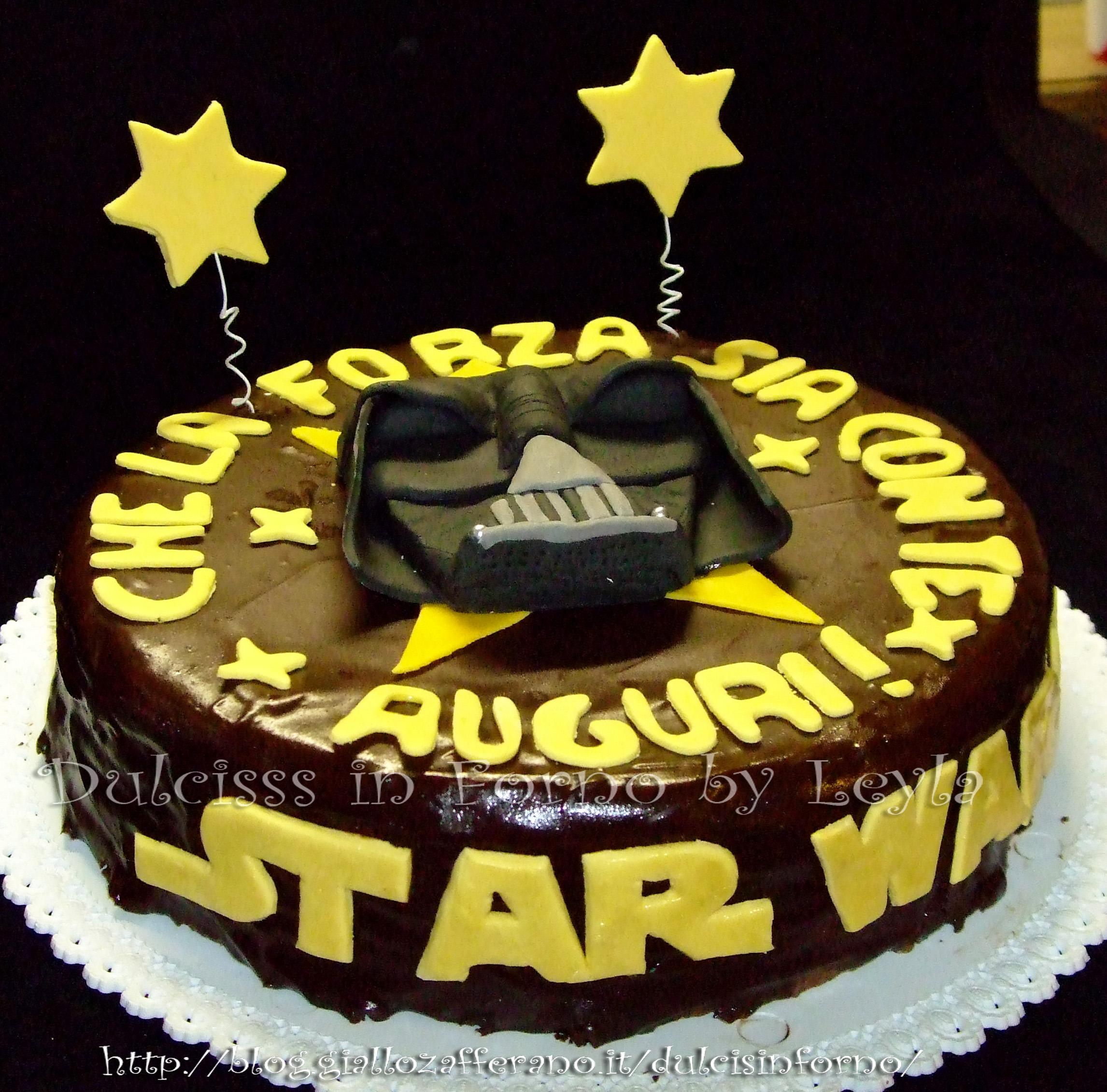 Favoloso Star Wars Cake - torta Guerre Stellari, decorata in pasta di zucchero YX86