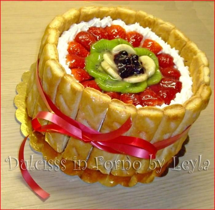 Charlotte alla frutta - torta alla frutta Dulcisss in forno by Leyla