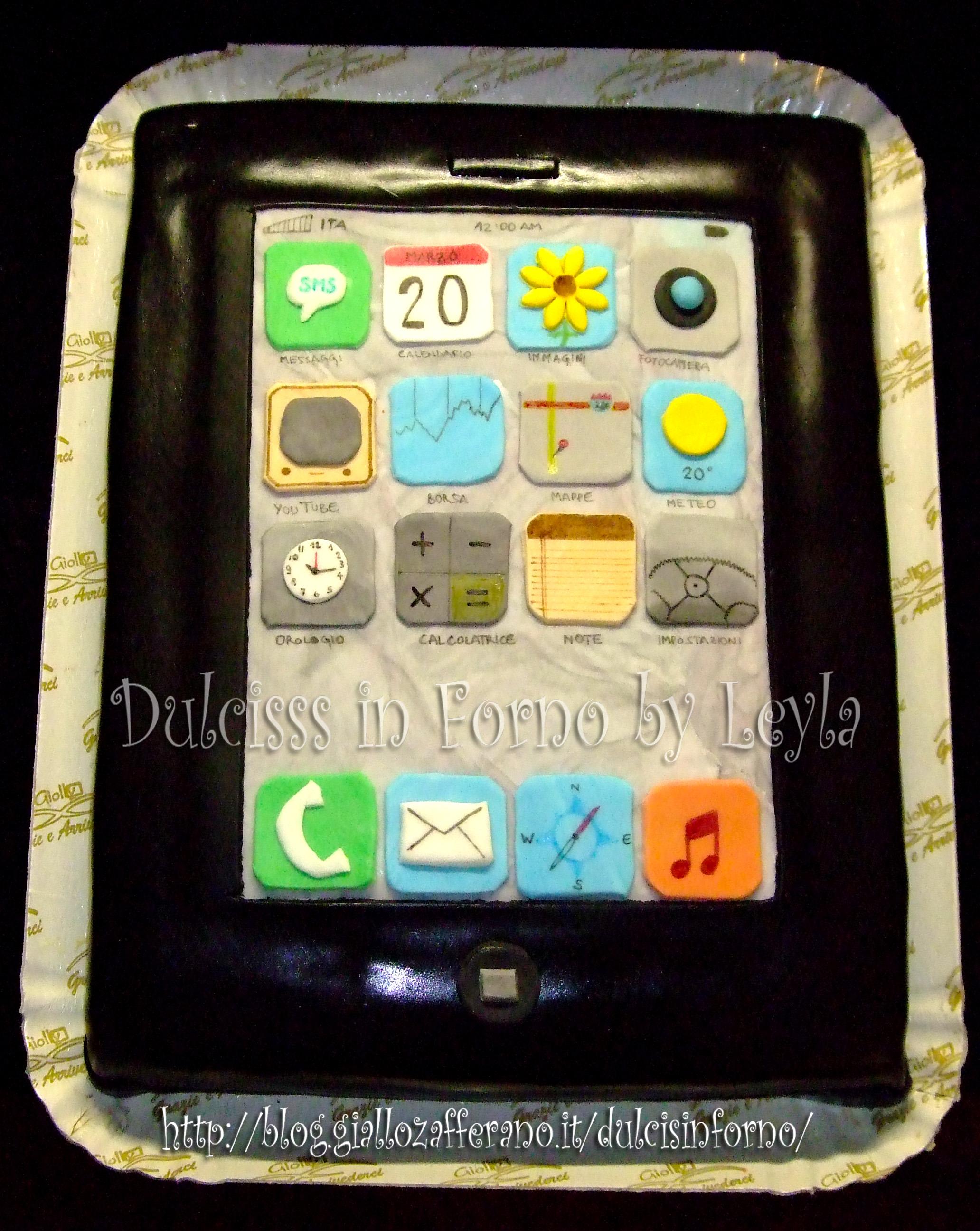 Torta a forma di iPhone | iPhone cake | pasta di zucchero | Dulcisss in forno