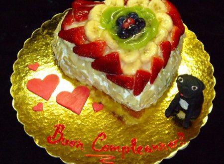 Kinky Fruit Cake, torta di frutta con il carlino Kinky in PDZ