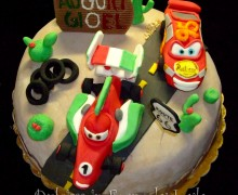Torta Cars, decorata in pasta di zucchero PDZ Francesco Bernoulli, Saetta Mc Queen, Dulcisss in forno