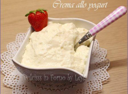 Crema allo yogurt, ricetta base