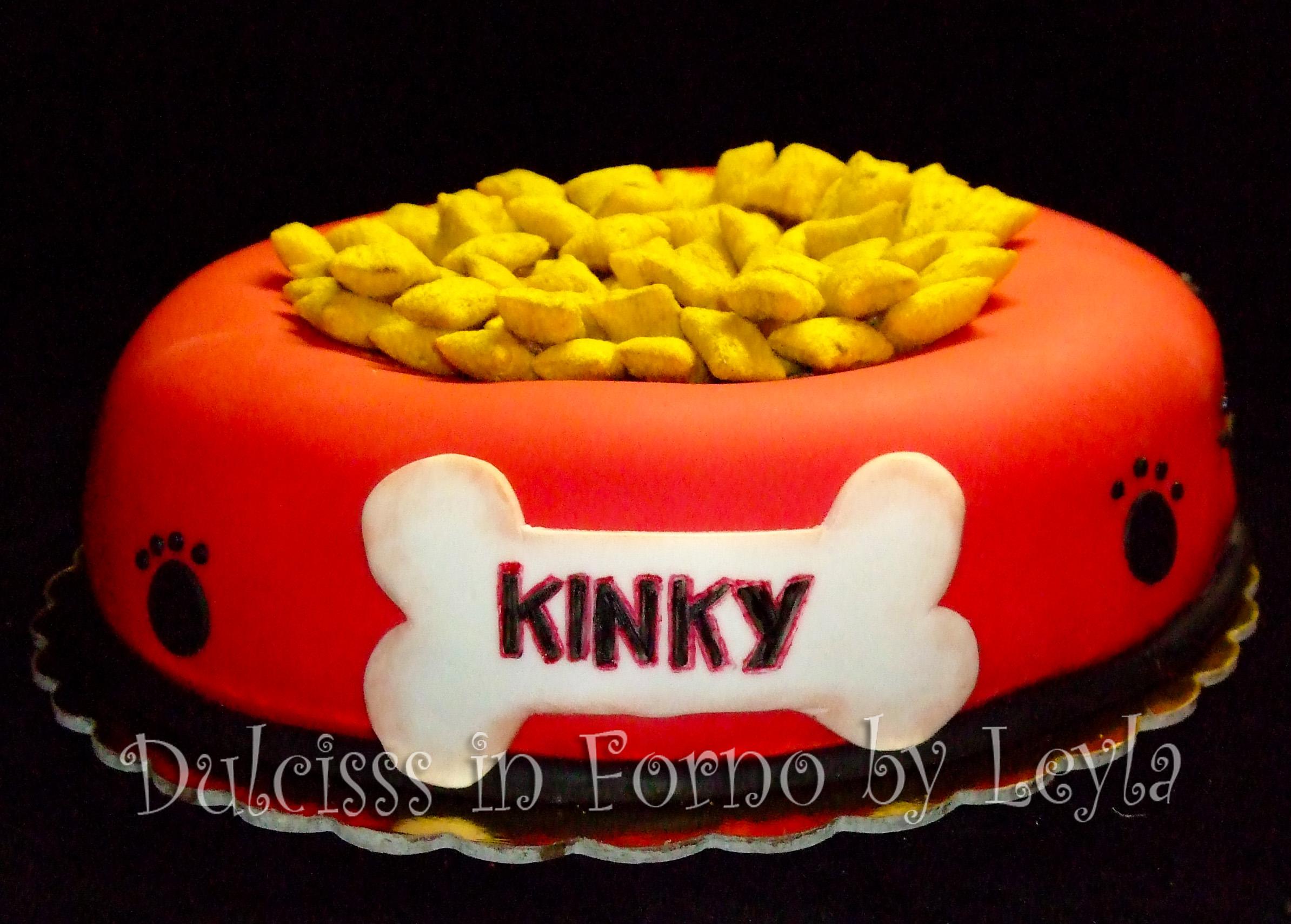 Torta decorata ciotola di cane pasta di zucchero - Forno ventilato per torte ...