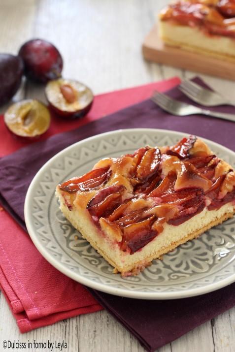 Crostata morbida di prugne Zwetschgendatschi ricetta Dulcisss in forno by Leyla